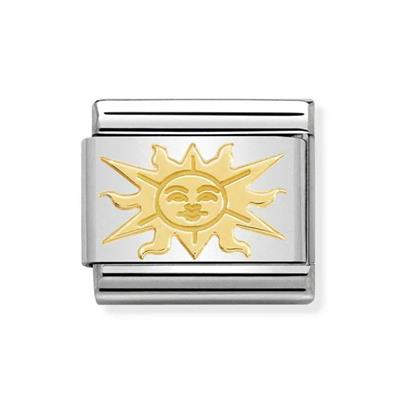 Buy Nomination Gold Sun With Face Charm