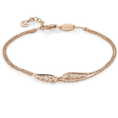 Buy Nomination Rose Gold Double Strand Angel Wing Bracelet