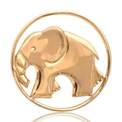 Buy Nikki Lissoni Yellow Gold Strong As An Elephant Coin 33mm
