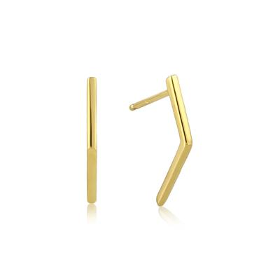 Buy Ania Haie All Ears Gold Angled Bar Earrings