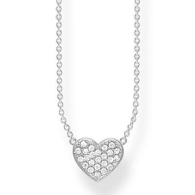 Buy Thomas Sabo CZ Silver Heart Necklace