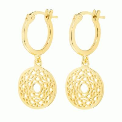 Buy Daisy Crown Chakra Gold Drop Earrings