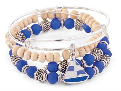 Buy Alex and Ani Sailboat Set of 3 bangles