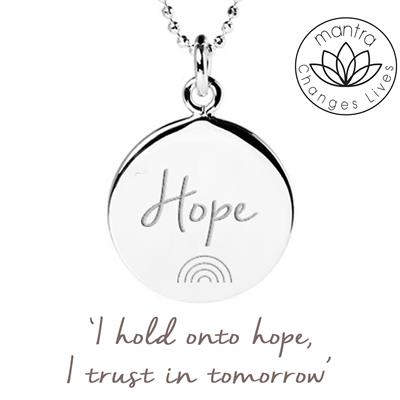 Buy Mantra Hope NHS Charities Together, Charity Necklace in Sterling Silver