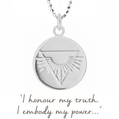 Buy Mantra Nicky Clinch Warrior Disc Necklace in Sterling Silver