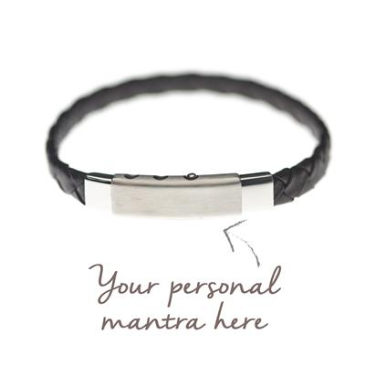Buy MyMantra myMantra Personalised Men's Bracelet - Black Leather