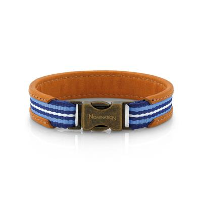 Buy Nomination Cruise Leather Bracelet in Blue, Brown & White