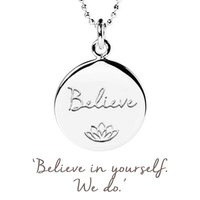 Buy Believe in Yourself Smart Works Mantra in Silver