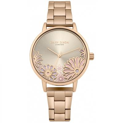 Buy Daisy Dixon Laura Rose Gold Flower Watch