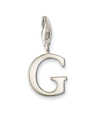 Buy Thomas Sabo Silver Letter G Charm