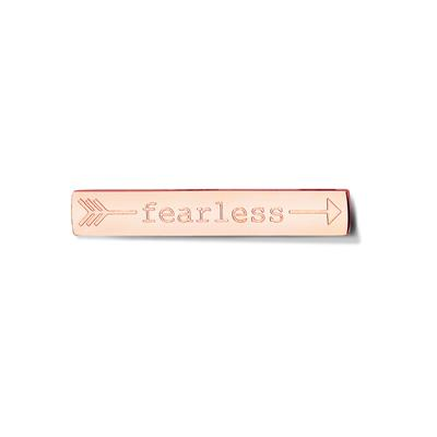 Buy Take What You Need Rose Gold Toned Fearless Bar