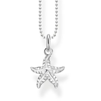 Buy Thomas Sabo CZ Starfish Necklace 45cm