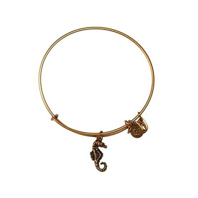 Buy Alex and Ani Seahorse in Rafaelian Gold Finish