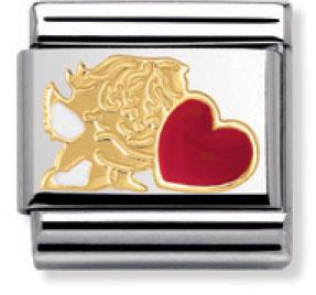 Buy Nomination Cupid with Red Enamel Heart
