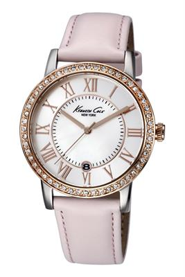 Buy Kenneth Cole Ladies Pink Leather Rose Gold Watch