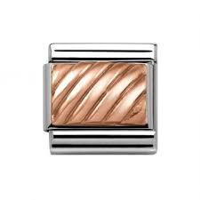 Buy Nomination Rose Gold Stripes Plate
