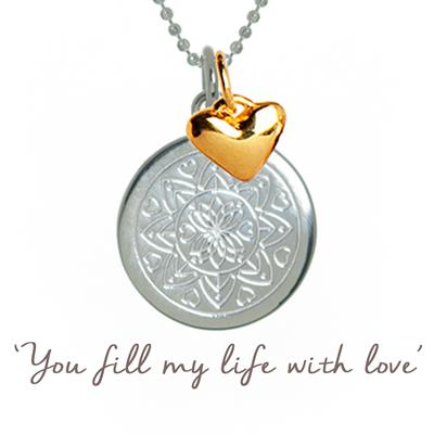 Buy My Love Mantra Necklace in Sterling Silver