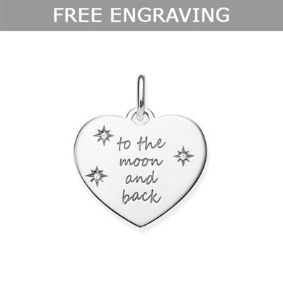 Buy Thomas Sabo Engravable Heart CZ To The Moon and Back Pendant