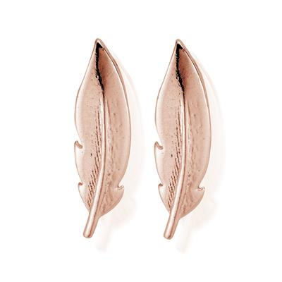 Buy ChloBo Rose Gold Feather Ear Cuff Stud Earring