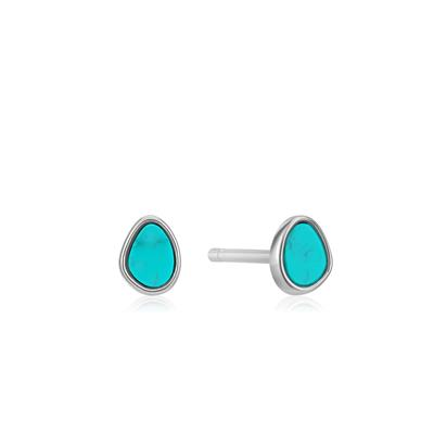 Buy Ania Haie Turning Tides Turquoise & Silver Stud Earrings