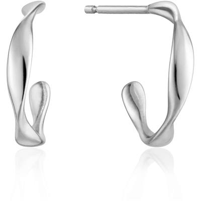 Buy Ania Haie Silver Mini Twist Hoops