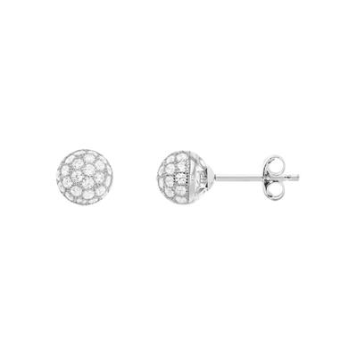 Buy Tresor Paris Allure Sterling Silver & White Crystal Orb Earrings