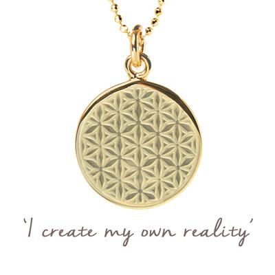 Buy Mantra Mel Wells Flower of Life Disc Necklace in Gold
