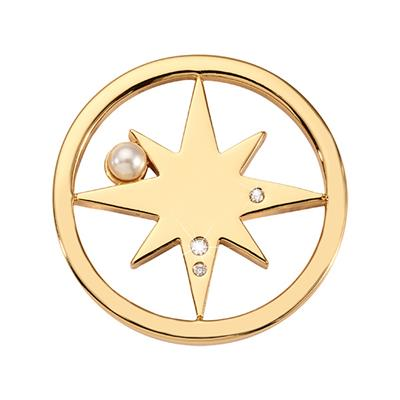 Buy Nikki Lissoni Gold Falling Pearl Star Small Coin 23mm