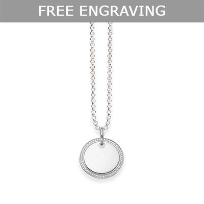 Buy Thomas Sabo Glam & Soul CZ Engravable Disc Necklace