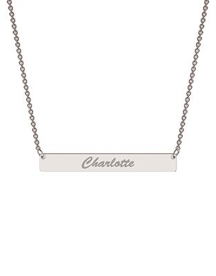 Buy me.mi Bar Name Necklace in Silver