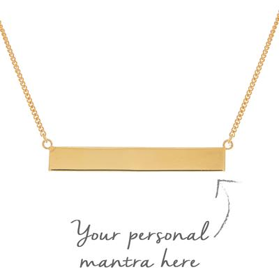 Buy MyMantra Bar myMantra Necklace in Gold