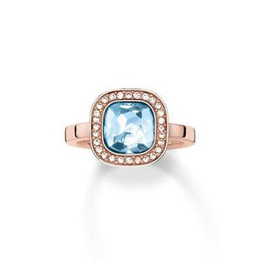 Buy Thomas Sabo The Secret of Cosmo Aqua Ring Size 58