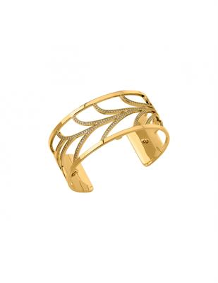 Buy Les Georgettes Medium Gold CZ Courbe Cuff