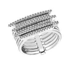 Buy Tresor Paris Metric Multi Band Ring Size L