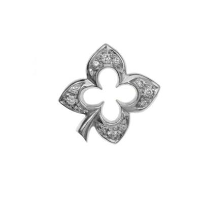 Buy Dower and Hall Silver Pave Clover Treasure