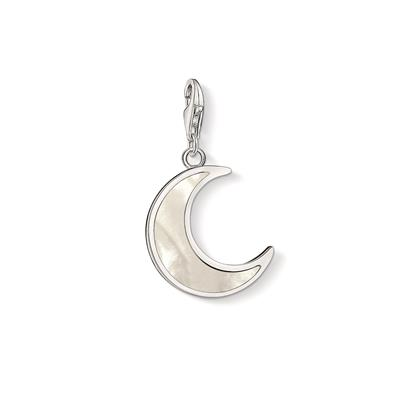 Buy Thomas Sabo Silver Mother of Pearl Crescent Moon Charm