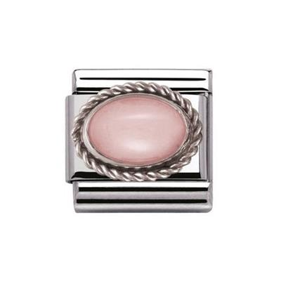 Buy Nomination Pink Opal Sil Frill Oval Stone