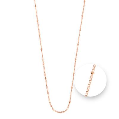 Buy Nikki Lissoni Rose Gold Ball Chain Necklace 75cm