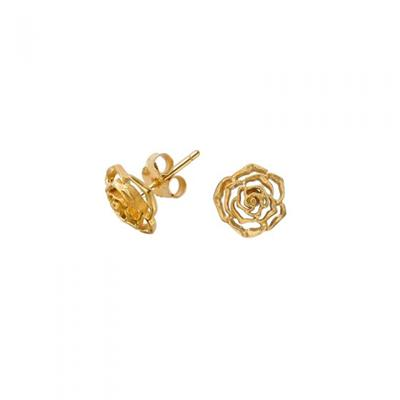 Buy Dower and Hall 18ct Gold Vermeil Wild Rose Stud Earrings