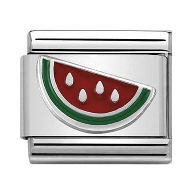 Buy Nomination Silver and Enamel Watermelon Charm