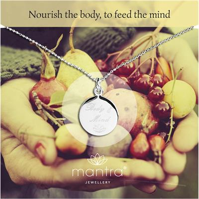 Buy Body & Mind Nourish Mantra Necklace in Silver