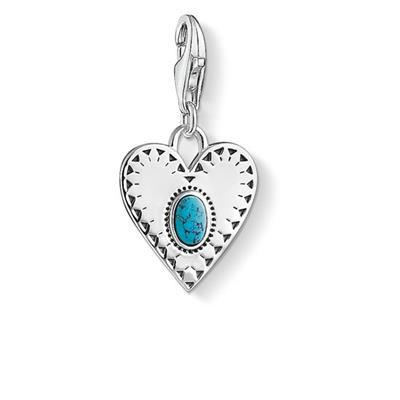Buy Thomas Sabo Silver Turquoise Heart Charm