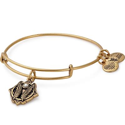 Buy Alex and Ani Godspeed Disc bangle in Rafaelian Gold Finish