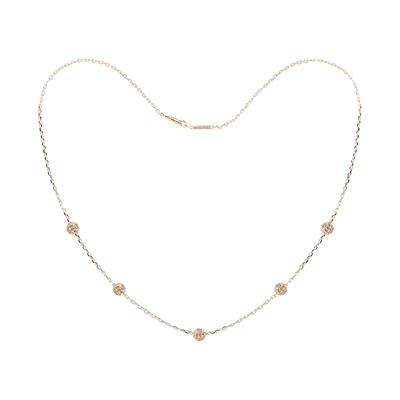 Buy Tresor Paris Rose Gold Crystal Chain Necklace