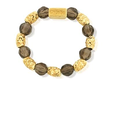 Buy ChloBo Smoky Quartz and Gold Sparkle Ring Medium