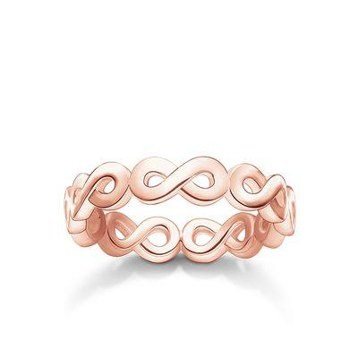 Buy Thomas Sabo Rose Gold Repeat Infinity Ring 52