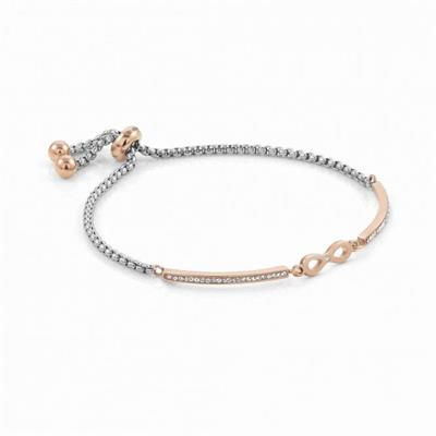 Buy Nomination Milleluci Rose Gold Finish Pav Infinity Toggle Half Bangle