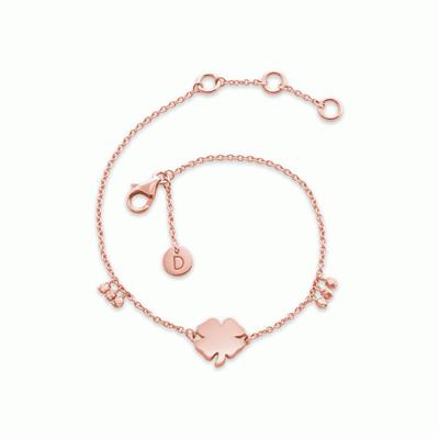 Buy Daisy Four Leaf Clover Rose Gold Good Karma Bracelet
