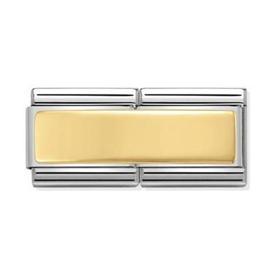 Buy Nomination Gold Engravable Double Link