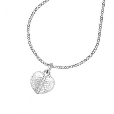 Buy Dower and Hall Sterling Silver and White Sapphire Heart Lumiere Locket